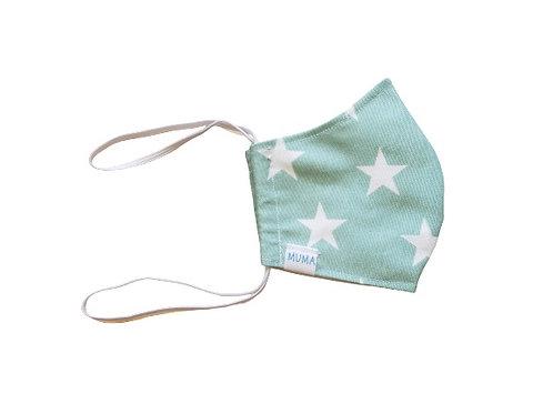 Mascarilla verde estrellas