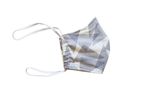 Mascarilla gris triángulos
