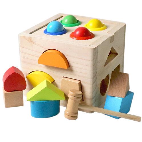 Cubo de encaje de madera