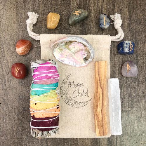 Balance & Alignment Chakra Smudging & Clearing Kit w/ Chakra Stones
