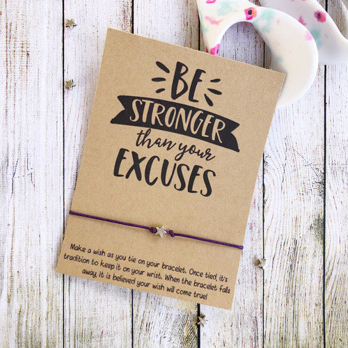 Be Stronger Make a Wish Bracelet