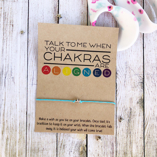 Chakras Aligned Make a Wish Bracelet