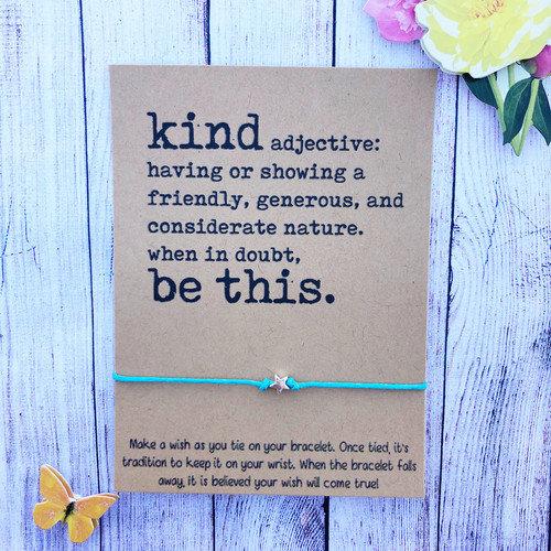 Be Kind Make a Wish Bracelet