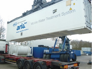 Produção de água potável em ambientes offshore e portuários