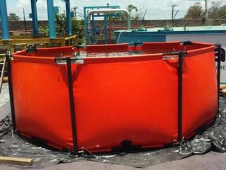 Tanques de armazenamento temporário emergencial de alta capacidade