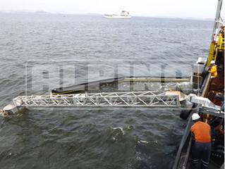 Sistemas offshore de recolhimento de óleo