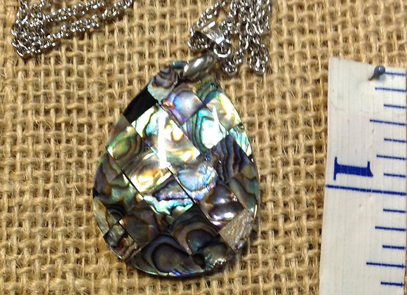 Abalone/Paua & Mother Of Pearl Shell Necklace
