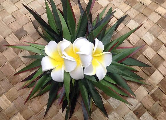 Hawaiian Pua Melia/Plumeria Flower Clip/Comb