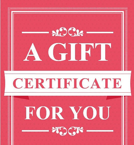 Luxurious Bridal GIFT CERTIFICATE (Multiple Denominations)