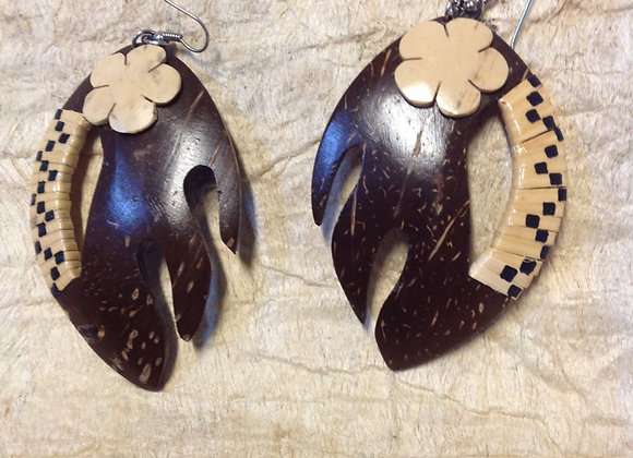 Large Coconut Shell Earrings