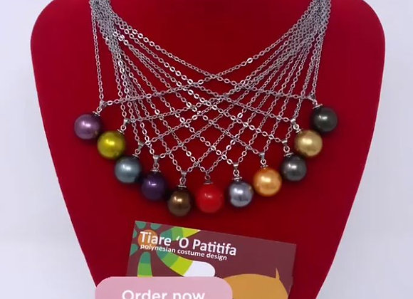 16MM Authentic Shell Pearl sterling silver necklaces