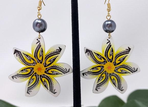 Tribal Sun Tiare Tropical Earrings