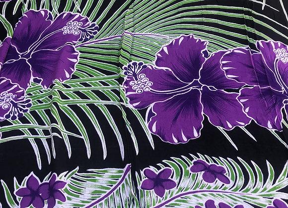 Hawaiian Floral Print Pareo or sarong. Beach wear, Luau, gift.