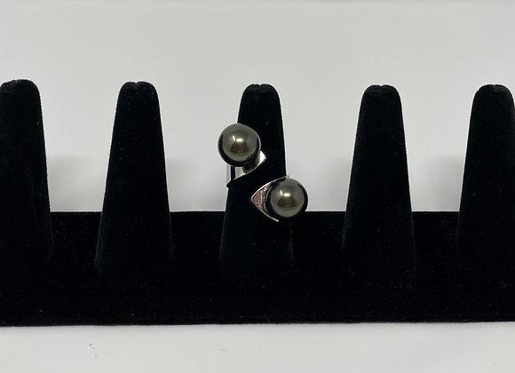 Tahitian black Shell Pearl Ring