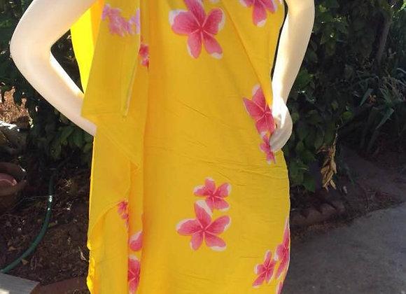 Hawaiian Floral Print Sarong/ Pareu