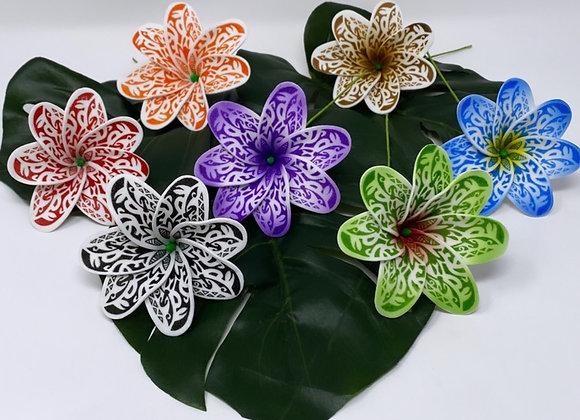 Tribal Tiare Flower