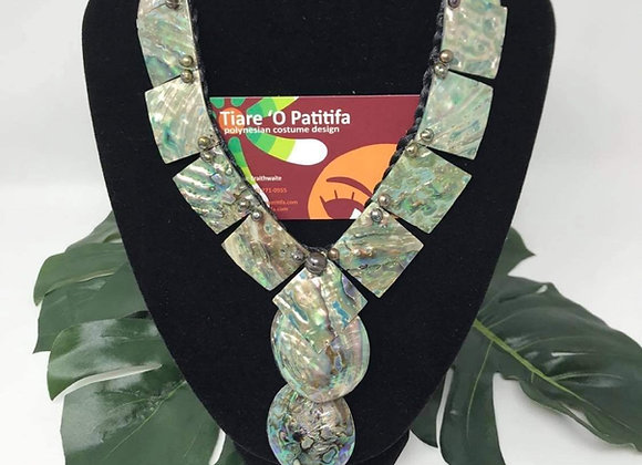 Genuine RAW Abalone Shell & Freshwater Pearl Handmade Necklace