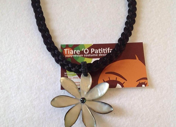 Tiare Flower Mother Of Pearl Shell Necklace