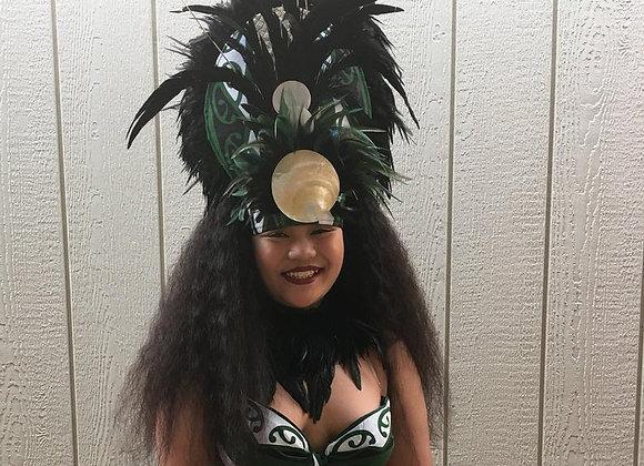 Green & Black Tribal Costume Set