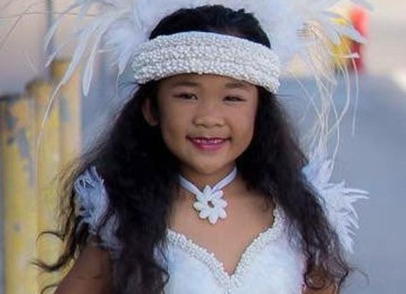 Angel in White Feather/Shell Costume Set