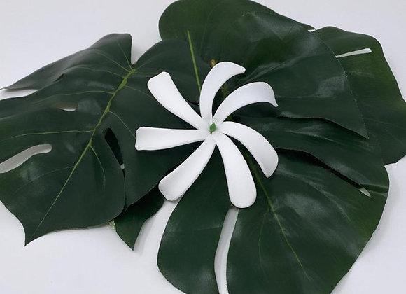 """4"""" White Tiare foam flower"""