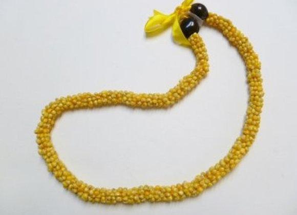 Yellow Mango Shell Strand Necklace