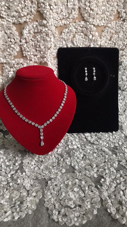 BETHET Swarovski Crystal CZ Earring & Necklace Set