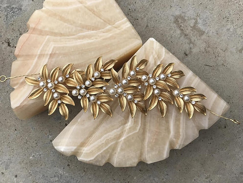 ATHENA Golden leaf Greek Bridal Hair Piece