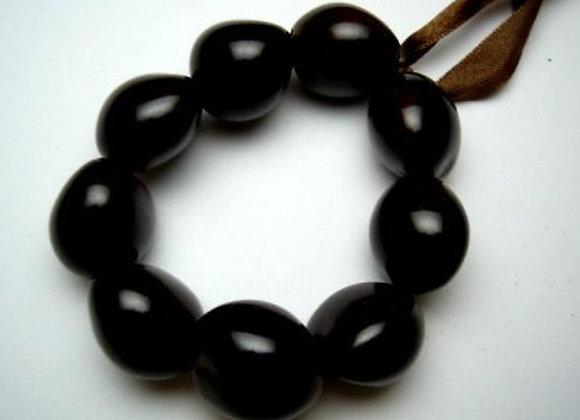 Brown or Black Kukui Nut Stretchy Bracelet