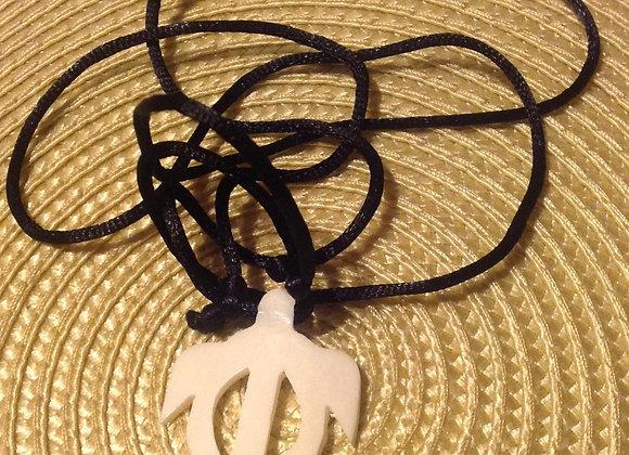 Buffalo Bone Turtle Necklace