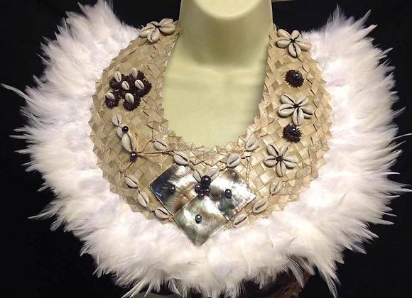 Weaved Lauhala & MOP Shell Neckpiece