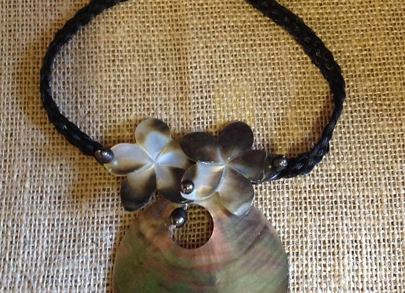 Tahitian MOP Shell & Fresh Water Pearl Necklace