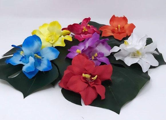 Triple Tropical Flower Hair Clips