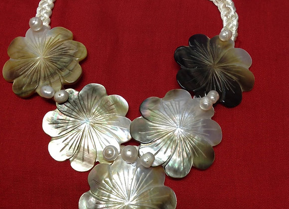 Mother Of Pearl & Fresh Water Pearl Necklace