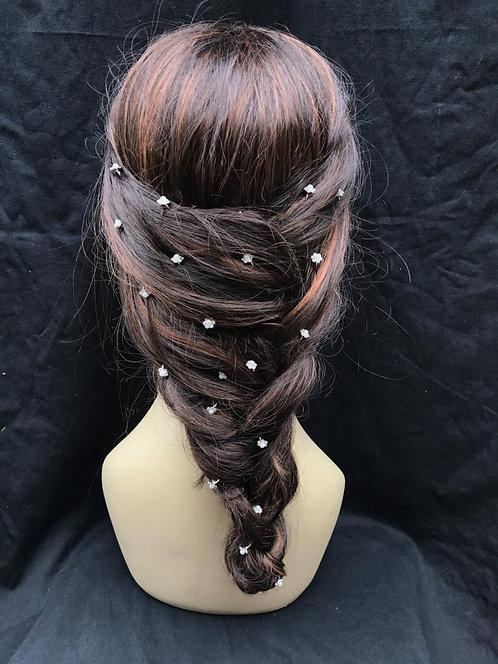 Crystal & Pearl, Floral Hair Pins
