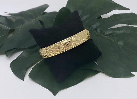 Hawaiian Heirloom Gold Plated Bangle