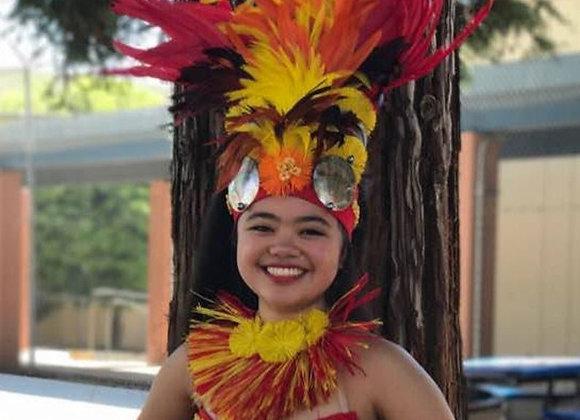 Sun Goddess Feather/Shell/Hau Costume Set