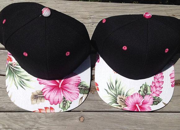 Floral Snap Back Hat Hawaiian Hat