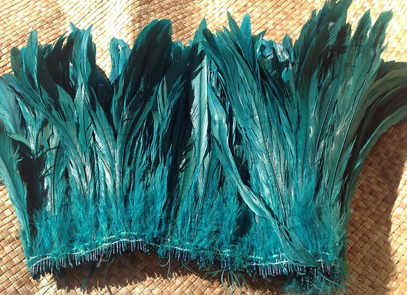 "8-10"" Dyed SEA GREEN Rooster Tail Feathers"