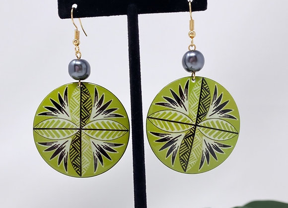 Tribal Tropical Circle Earrings