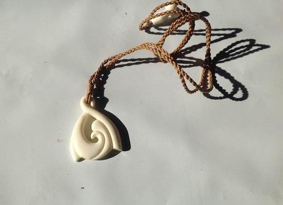 White Buffalo Bone Adjustable Necklace