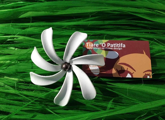 Tiare Flower Pick w/pearl