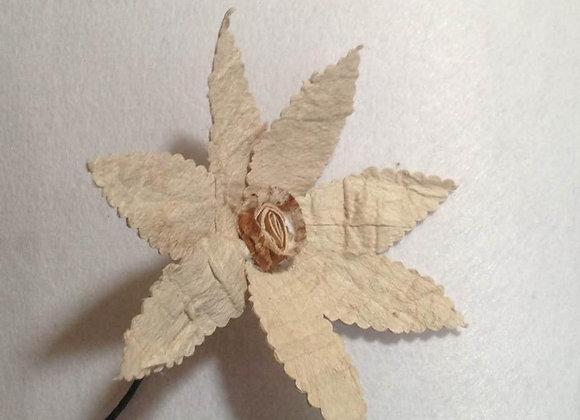 Tapa cloth flower pick