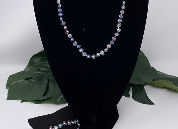 Rainbow Freshwater Pearl Jewelry Set