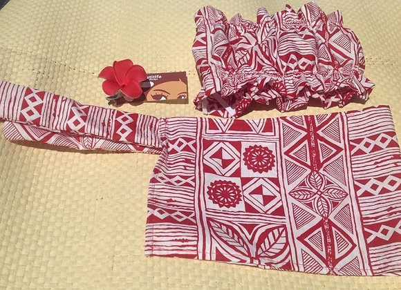 Children's Scrunchie Top, Sarong & Flower Set