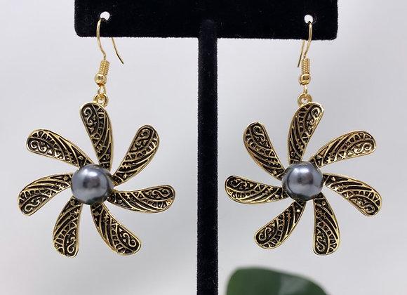 Hawaiian Tribal Tiare Flower Earrings
