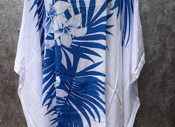 Blue & White Palm Leaves Dress/Top