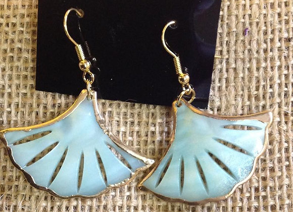 Flare Seashell Earrings with Gold plating