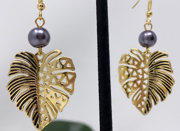 Hawaiian Tribal Leaf Earrings