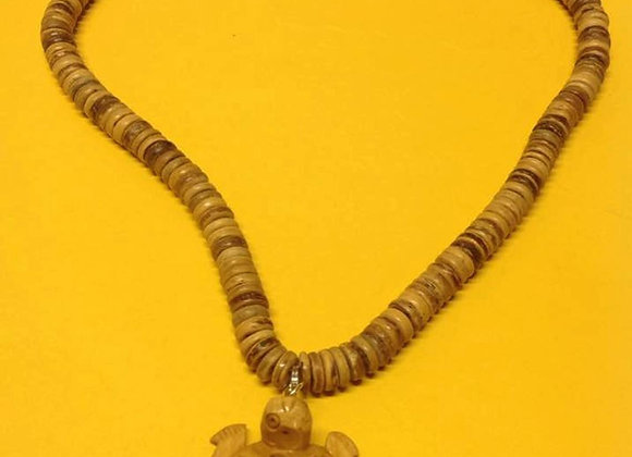 Carved Turtle Charm Necklace